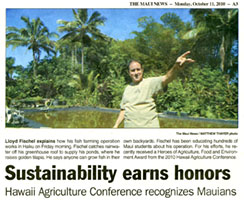 Lanikai Farms and Fragrant Orchids in The Maui News